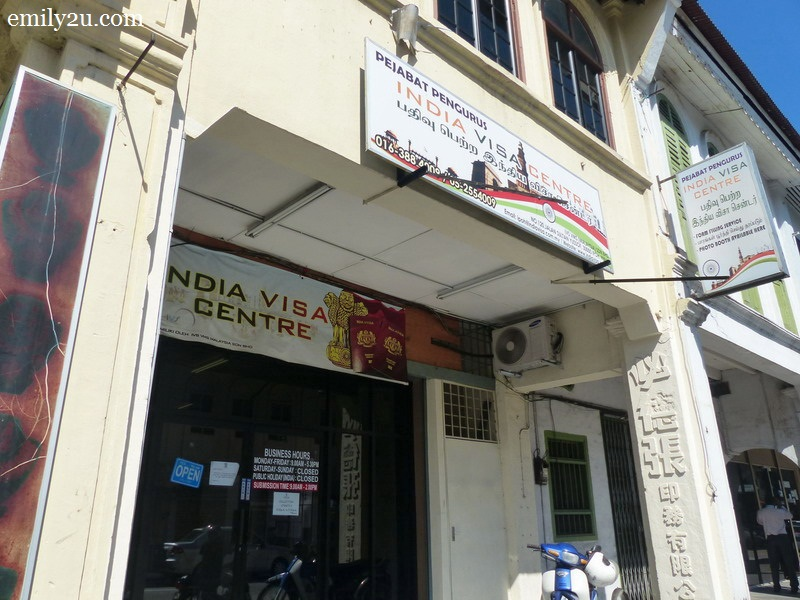 apply India tourist visa Ipoh