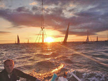 J/70 PHEEBS view of the Solent at dawn on JP Morgan Asset Management Round Island Race