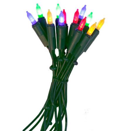 P-LED inomhus ljusslinga 35 ljus multi grön kabel