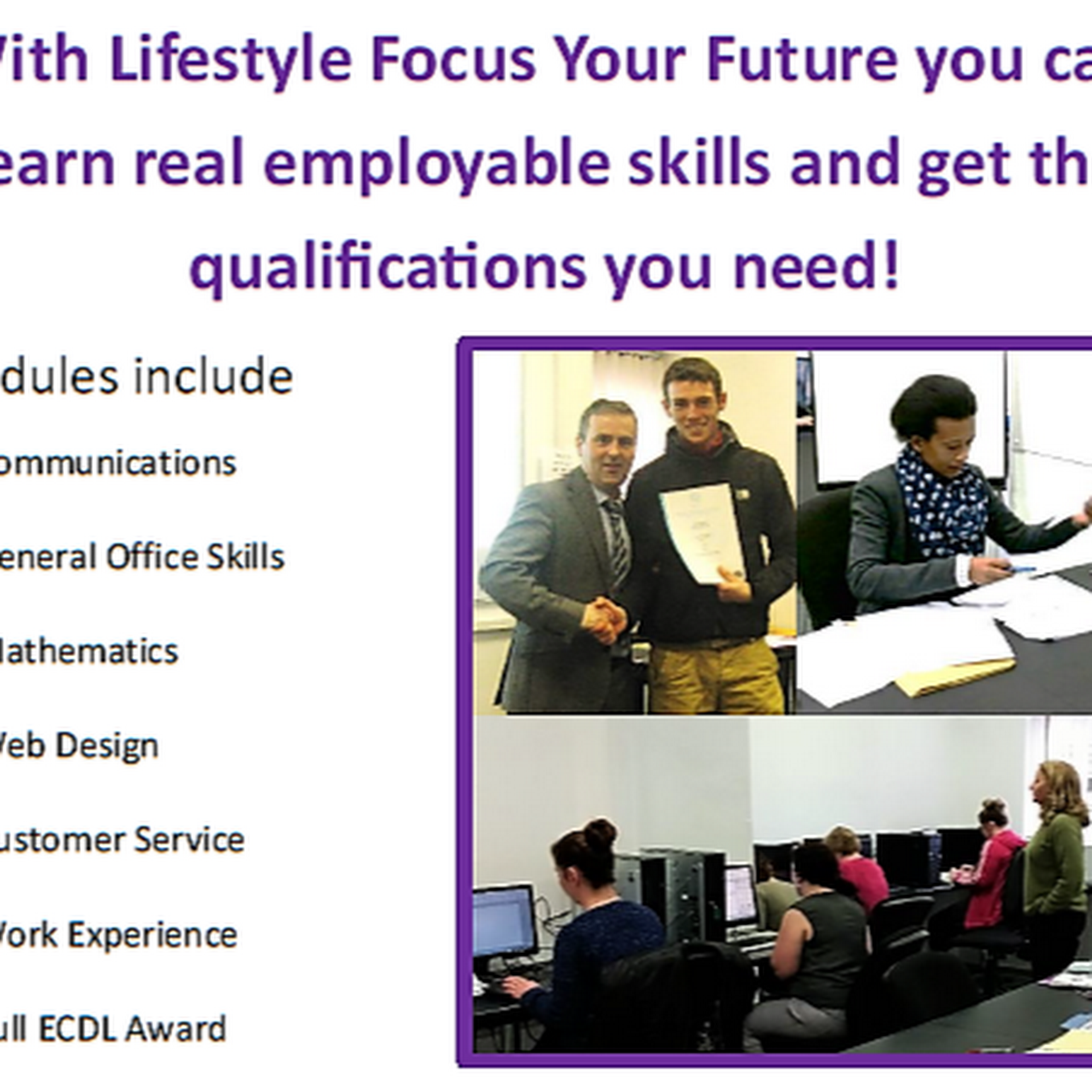 d180a0c2aef79 Lifestyle Focus Your Future - An IT/office skills programme for ...