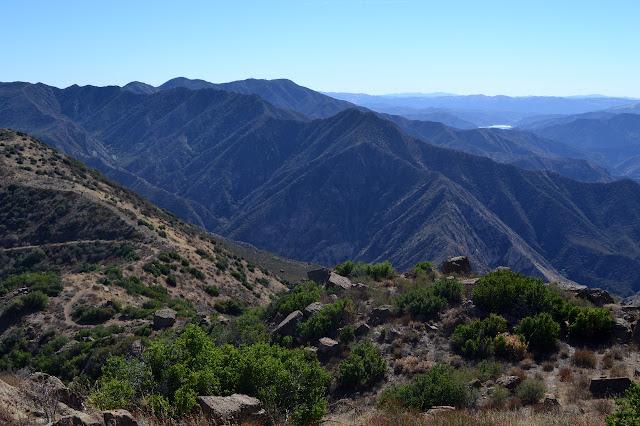 climbing trail on the ridge