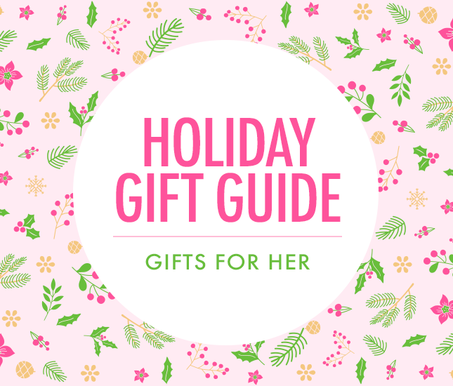 Holiday Gift Guide: Gifts for Her on Marleylilly.com