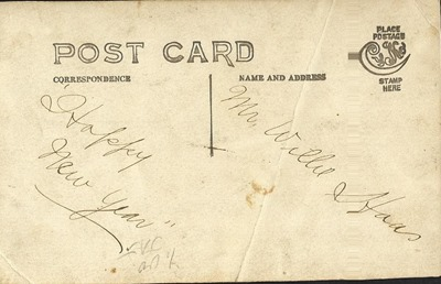 Postcard Man and boy DL antback