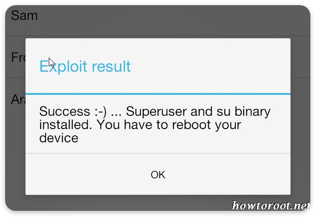 Download framaroot apk and root android without pc step 6 if you see a success superuser and su binary installed you have to reboot your device message then you have successfully rooted your phone greentooth Choice Image