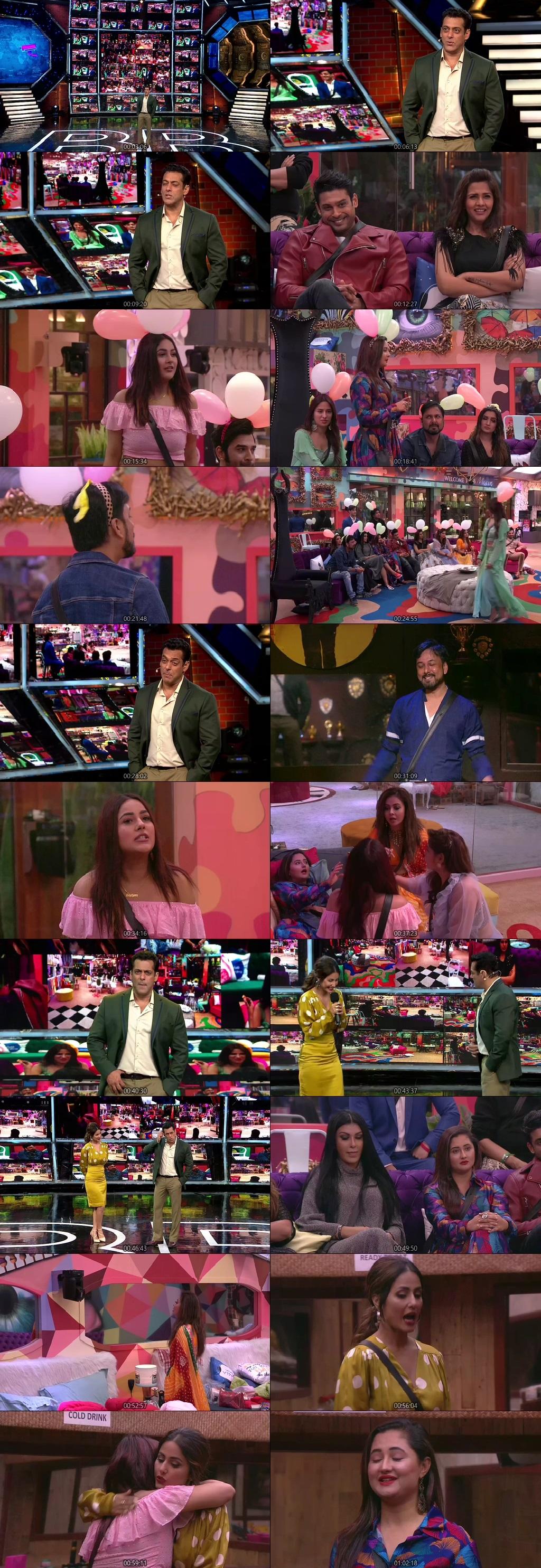 Screenshots Of Hindi Show Bigg Boss 13 6th October 2019 Episode 07 300MB 480P HD