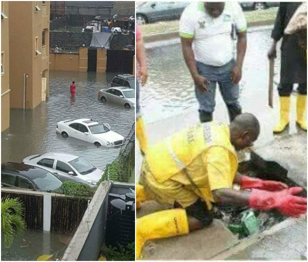 Lekki Flood: See What Lagos State Government Has Been Doing To Tackle Flood in Lekki (Photos)