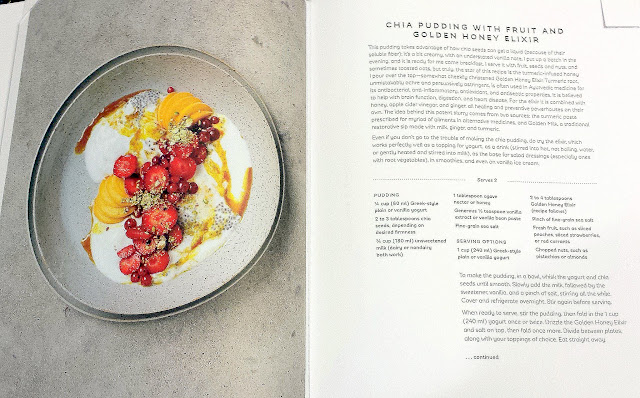 Chia Pudding with Fruit and Golden Honey Elixer recipe from the book Seven Spoons by Tara O'Brady
