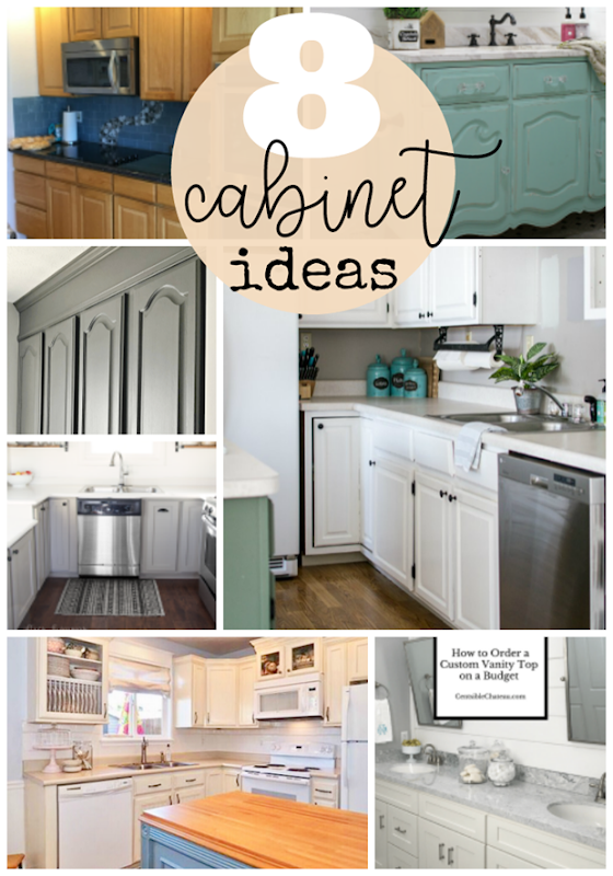 8 Cabinet Ideas at GingerSnapCrafts.com #cabinets #forthehome