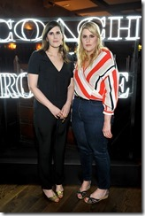 HOLLYWOOD, CA - MARCH 30:  Rodarte Co-Founders Laura Mulleavy (L) and Kate Mulleavy attend the Coach & Rodarte celebration for their Spring 2017 Collaboration at Musso & Frank on March 30, 2017 in Hollywood, California  (Photo by Donato Sardella/Getty Images for Coach)