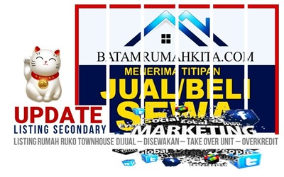 Listing Rumah Seken ( Secondary ) Dijual Disewakan - Diover - Di Batam