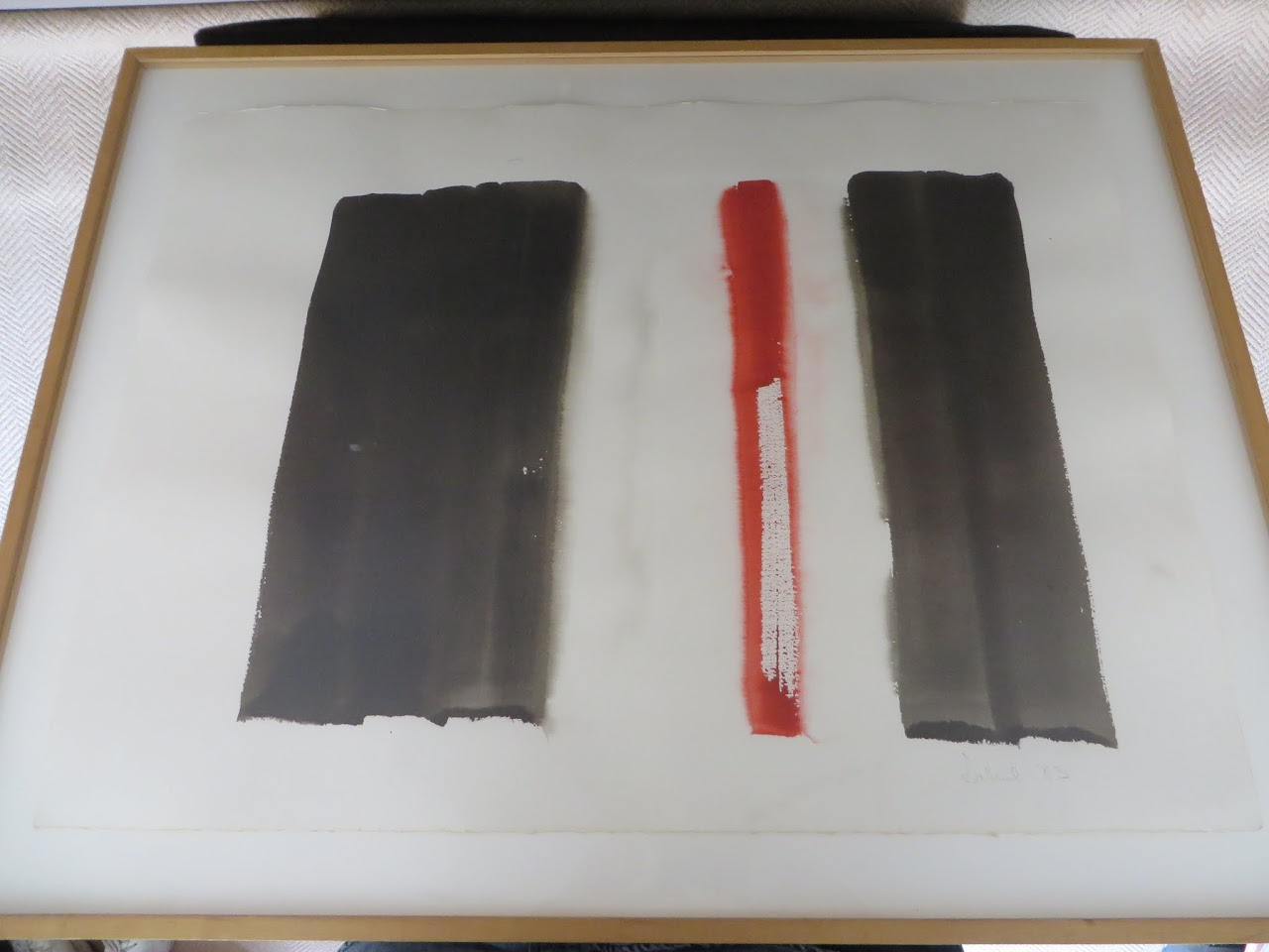 Contemporary Signed Watercolor Abstract 1