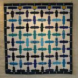 SERENIDAD - Liliane Boutin - Piécé machine et quilté main - Reproduction d'une des mosaïques du Salon de Comares - Palais de L'Alhambra de Grenade - Espagne