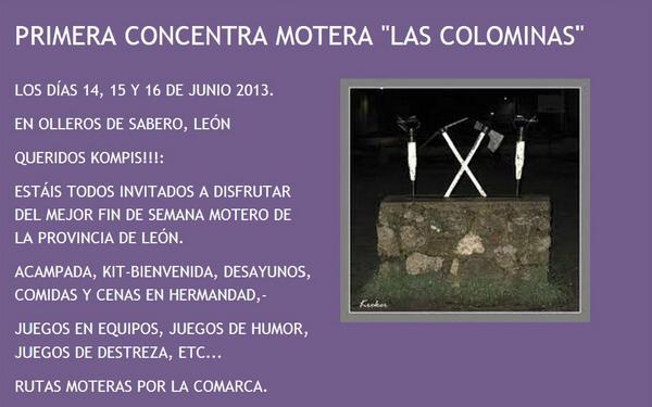 Cartel I Concentración Las Colominas 2013