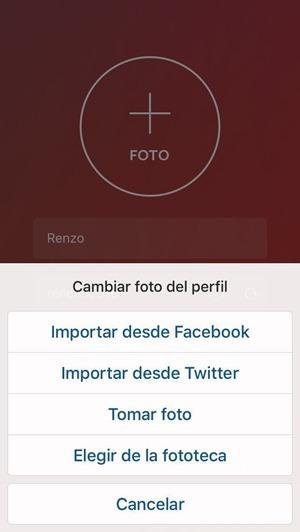 Elegir foto de perfil para Instagram