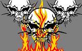 3 Skulls In Fire