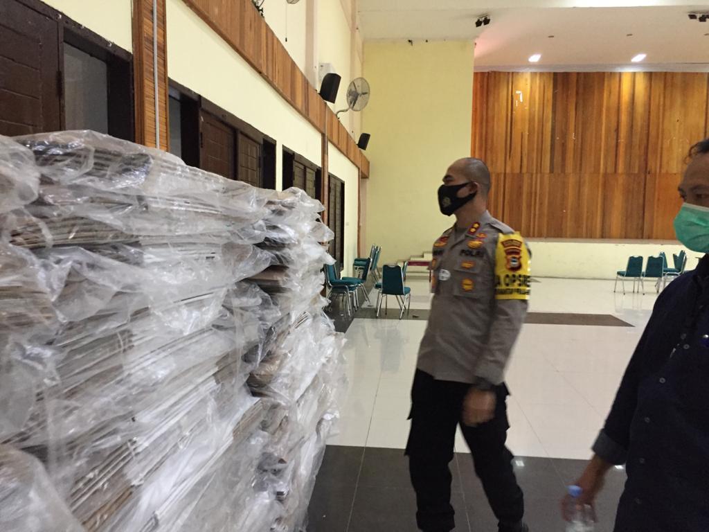 Kapolres Soppeng Pantau Sarana dan Prasarana Logistik KPU