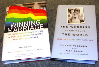 Books on gay marriage activism by Marc Solomon and Michael McConnell with Jack Baker