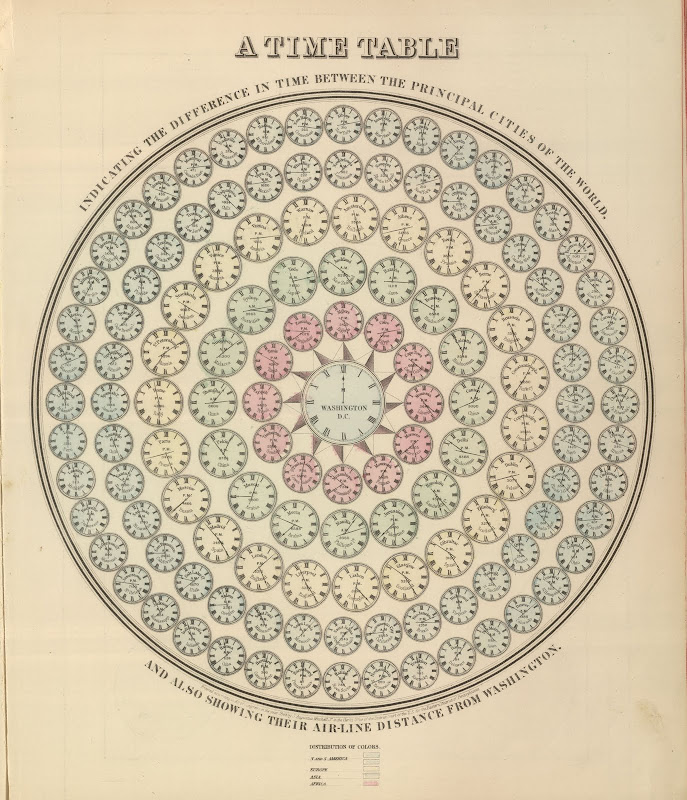 A Time Table (Mitchell's New General Atlas) 1864
