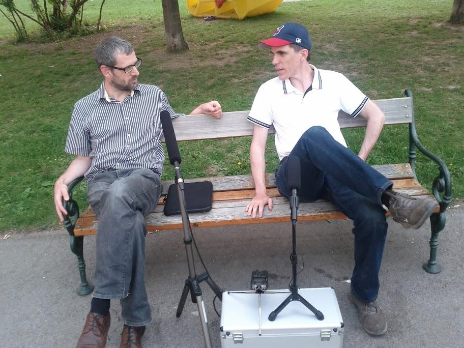 Harald und Peter beim Smarter Home Podcast im alten AKH