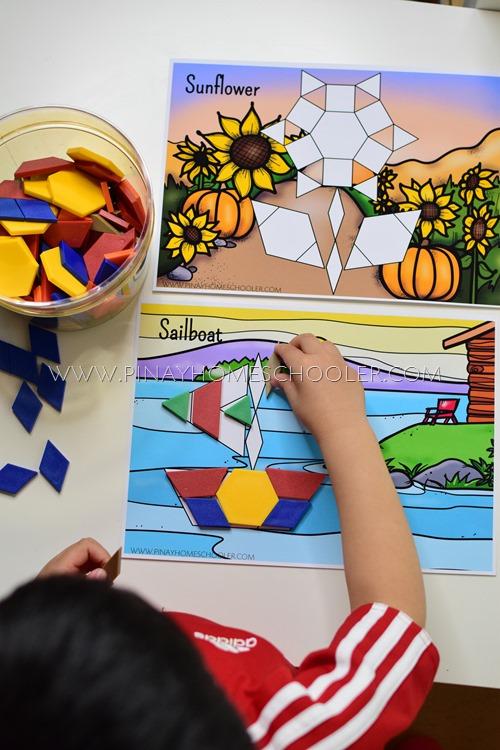 Pattern Blocks Mats for Younger Kids