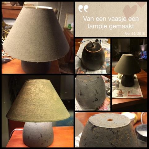 Workshop van vaas naar lamp