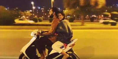 Yasir Hussain, Iqra Aziz's scooty ride video goes viral