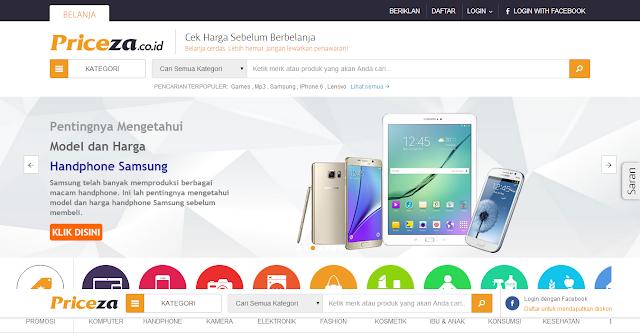 Priceza Indonesia Website