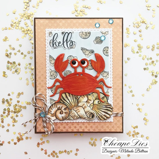 Terrific TuesDIE Hello Crab Card with Quick Video & FREE RG Studio 360 Download