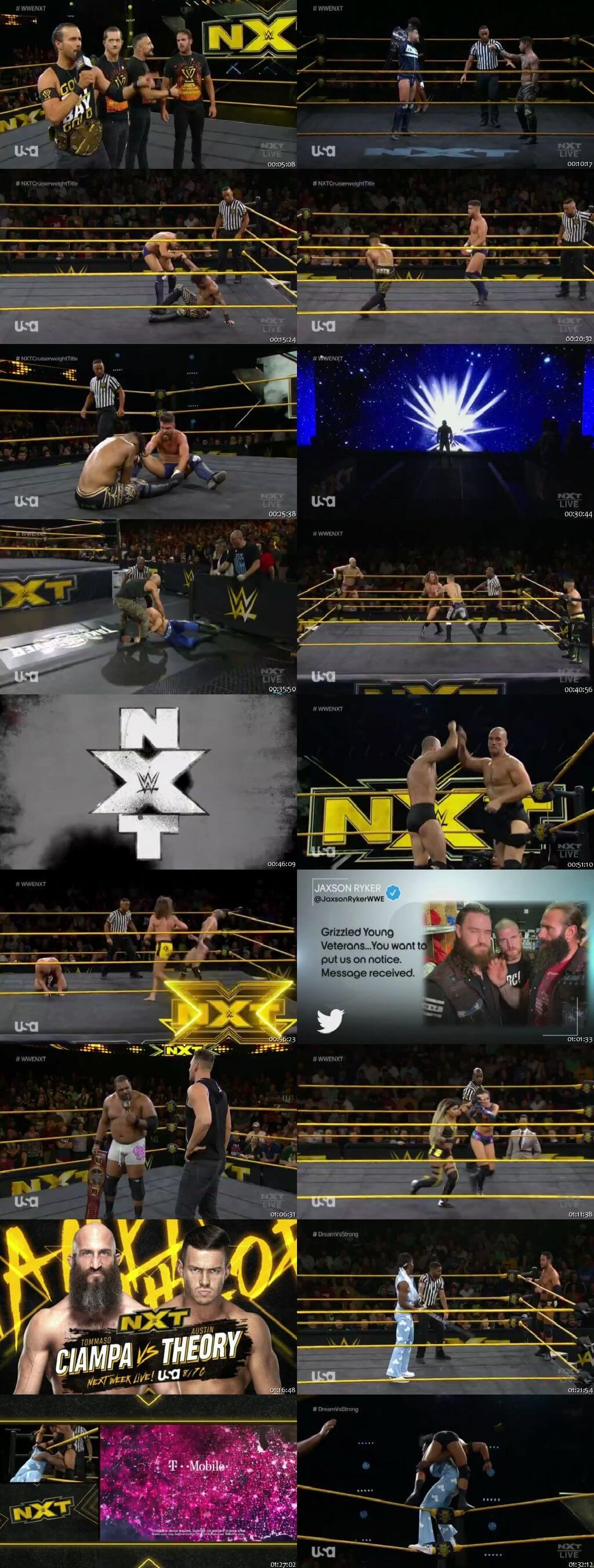 Screen Shot Of WWE NXT 19th February 2020 HDTV 480P 300MB