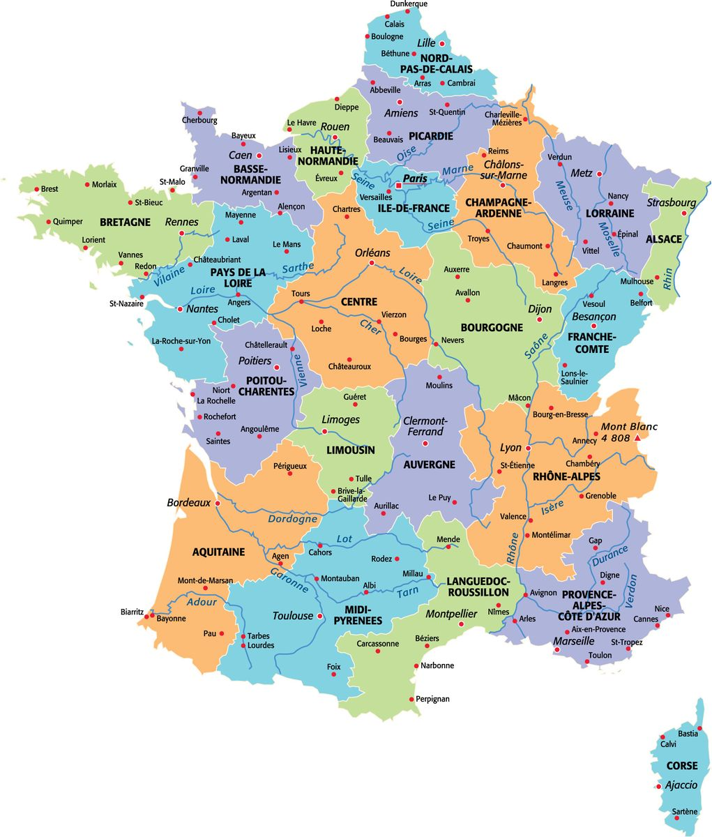 Geography blog cartes de france for B b carte france