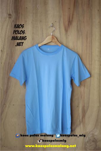 kaos polos cowok ice blue malang