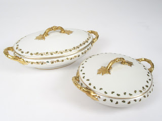 Limoges Tureen & Casserole Bowl Pair