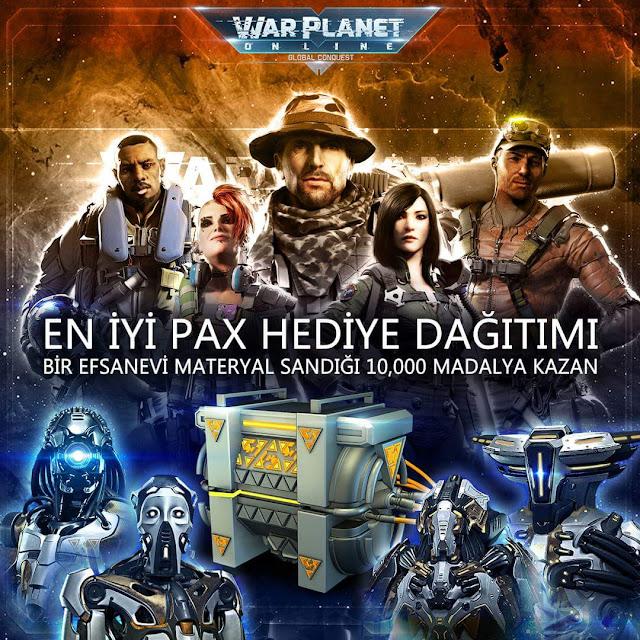 War Planet Online Çekilişle Etkinlik