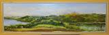 panorama pod Neu Sallentin, olej płótno, 20x70cm