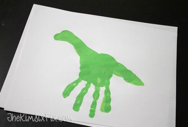 Handprint brontosaurus
