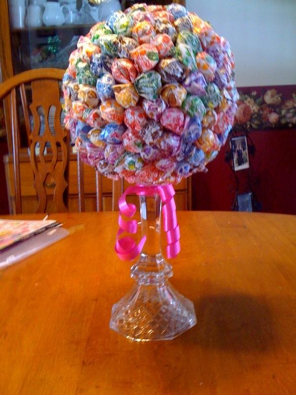 Divas for a healthy life adorable candy centerpieces