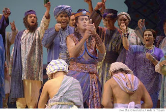"Photo: SF Opera performs Bizet's ""Pearl Fishers"" and we need shot from final dress rehearsal. Here, William Dazeley as Zurga performs in the first act."