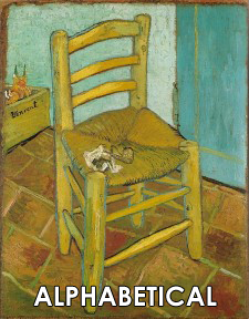Vincent van Gogh Paintings in Alphabetical Order