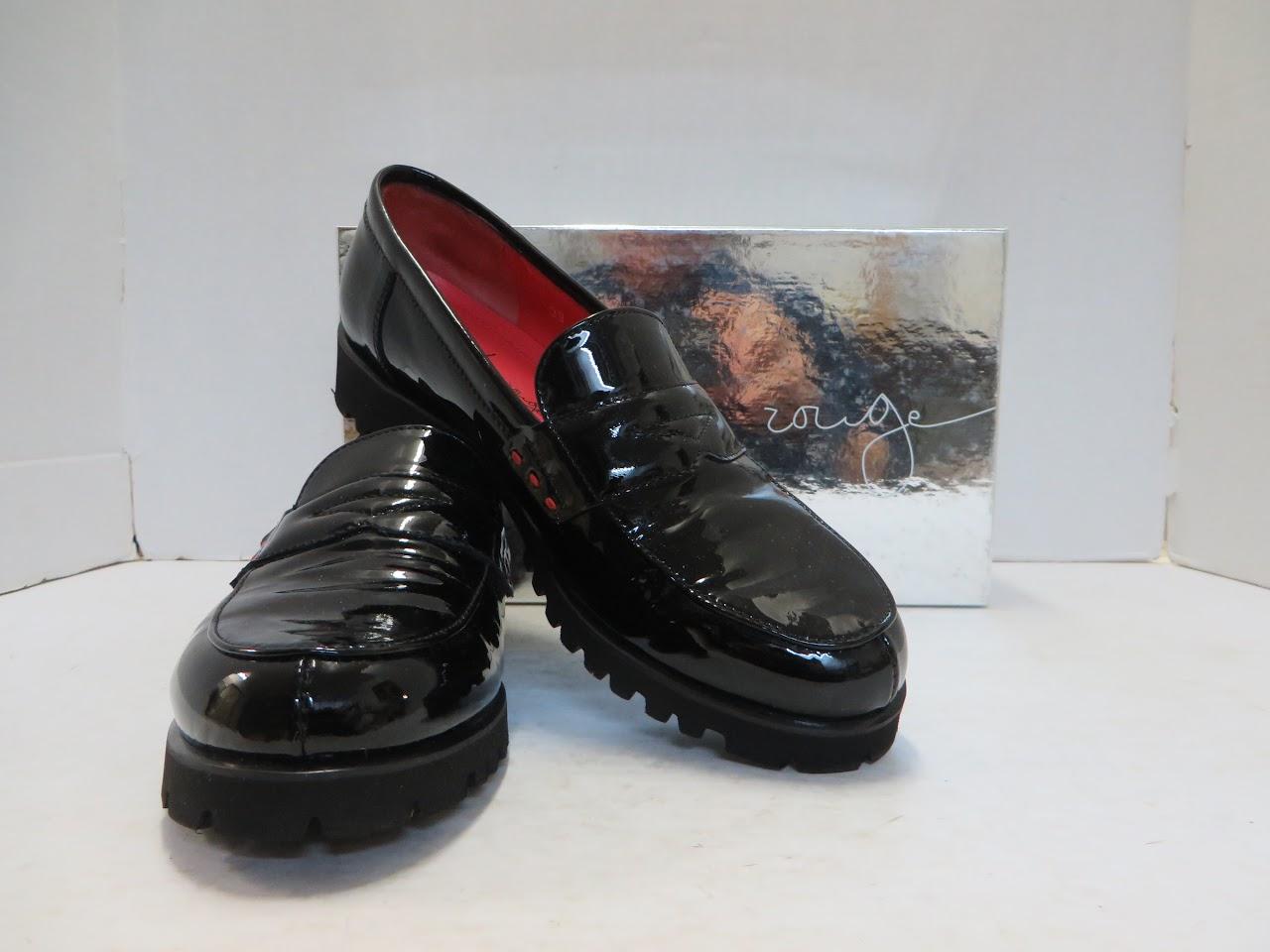 Pas de Rouge Patent Penny Loafers