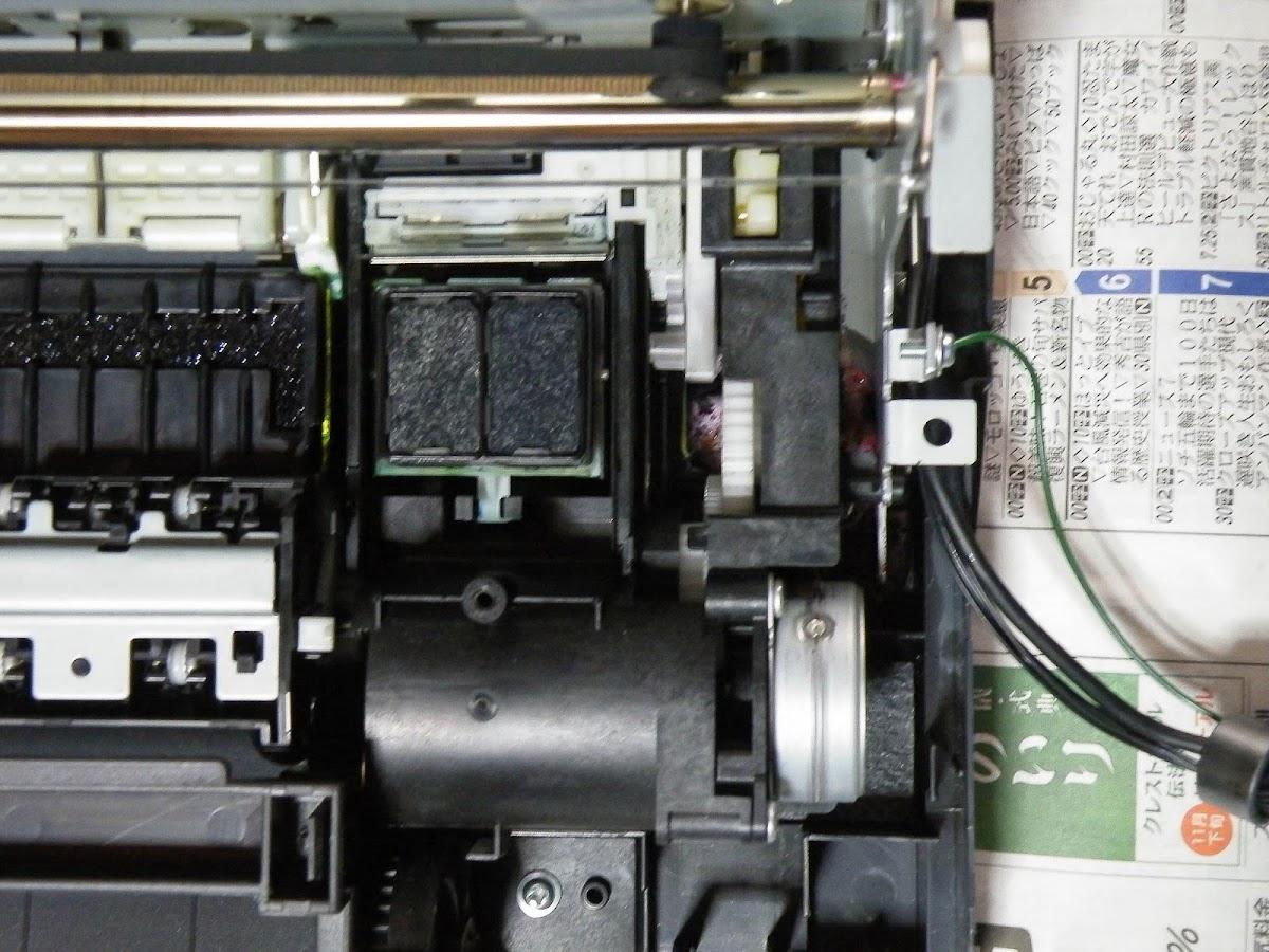 Canon Pixus 9900iのヘッドクリーニング機構のクリーニング トイレのうず ブログ