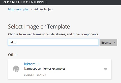 Openshift add to project lektor