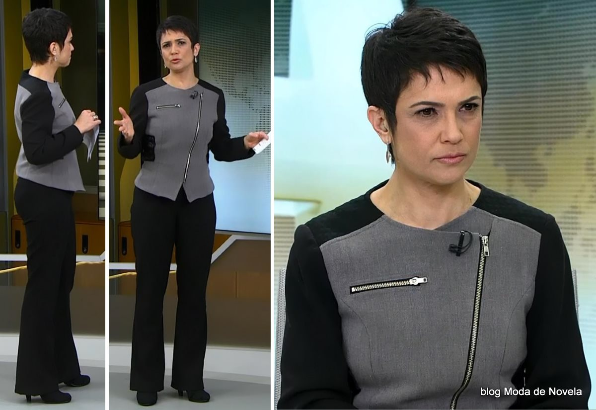 moda do programa Jornal Hoje - look da Sandra Annenberg dia 18 de julho