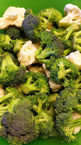 Great dippers for a cheese fondue that is healthier than bread - broccoli and cauliflower! Just quickly blanch them to soften them up