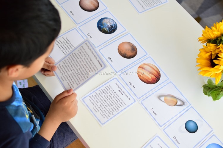 Solar System and Space Definition Cards