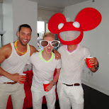 deadmaus and sander van doorn at the sensation predrink in Toronto, Ontario, Canada