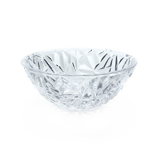 "Tiffany & Co. NEW 6"" Crystal Rock Cut Bowl"