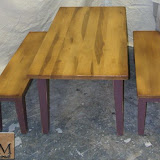 Custom Distressed Maple Picnic Table & Benches