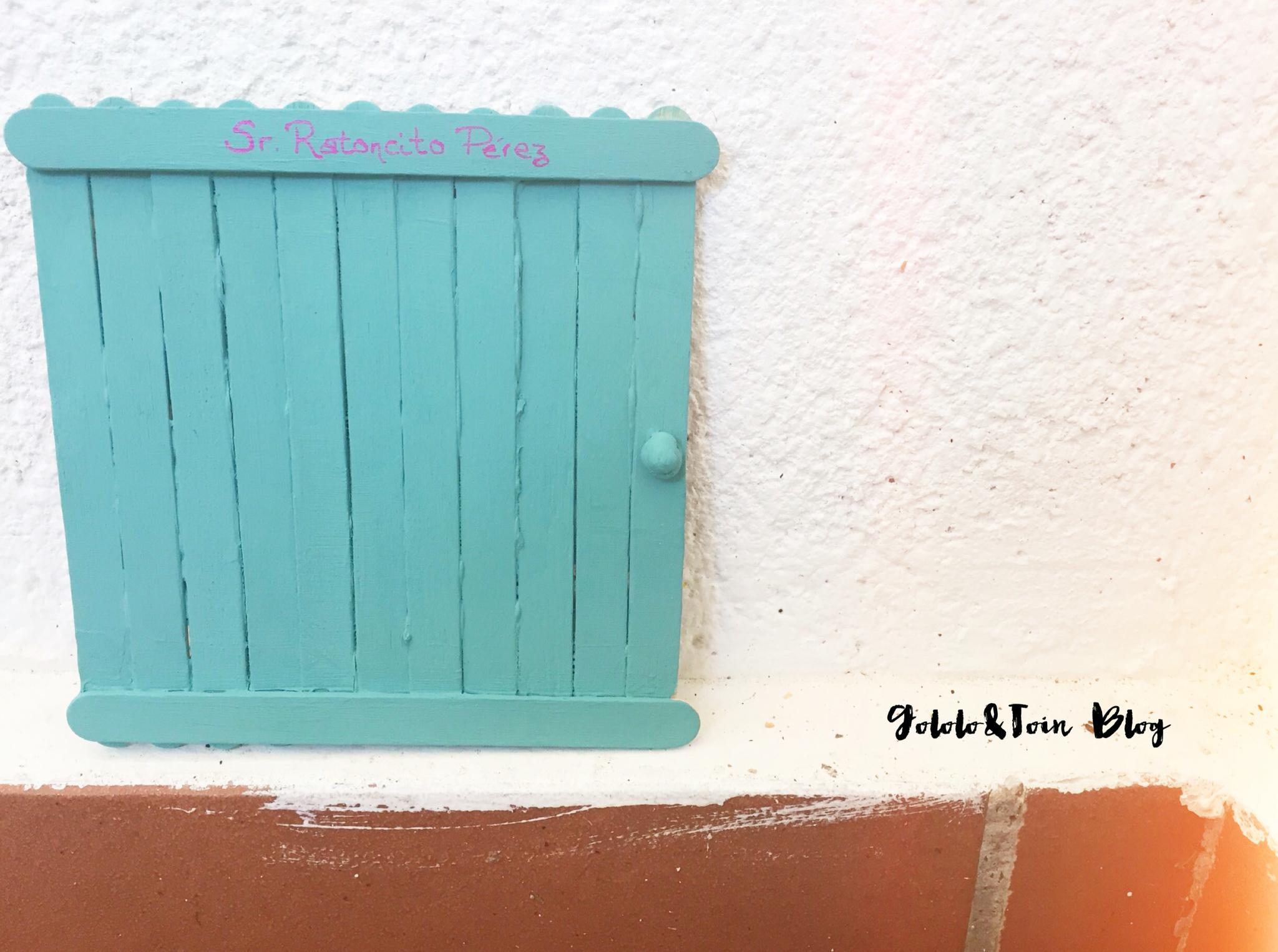 Puerta Diy Del Ratoncito P Rez Con Palos De Helado