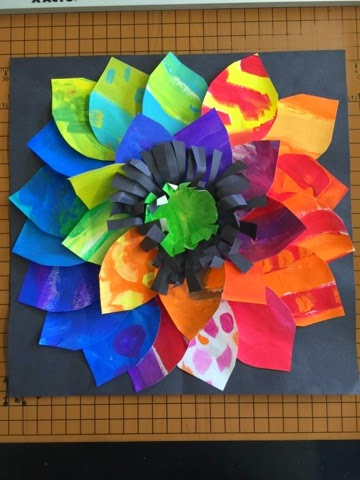 Color it like you mean it painted paper flowers 2nd grade remember all that paper weve been painting we are putting it to good use this week in second grade i love these beautiful bold flowers mightylinksfo