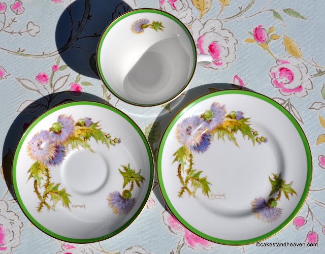 Royal Doulton Glamis Thistle Trio